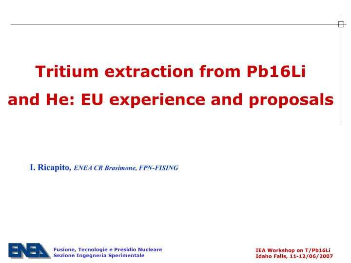 Tritium extraction from Pb16Li