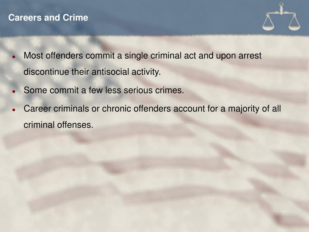Careers and Crime