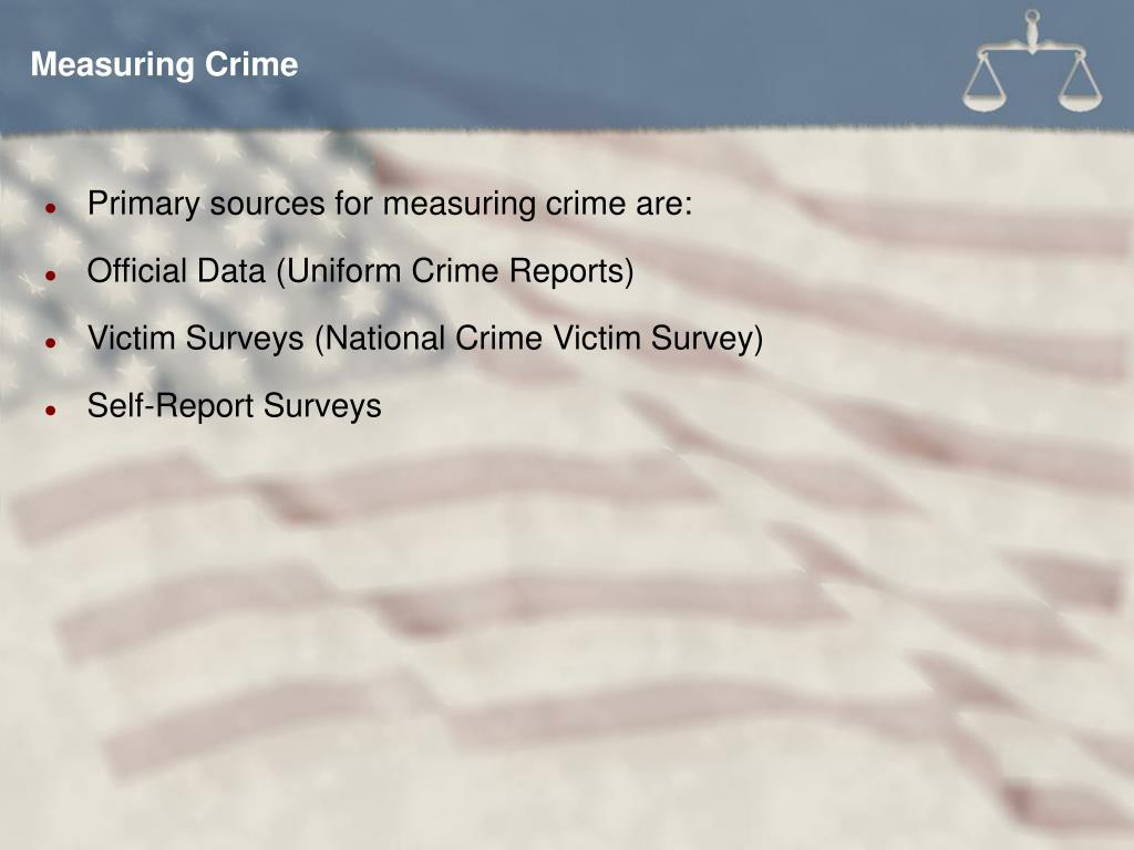 Measuring Crime