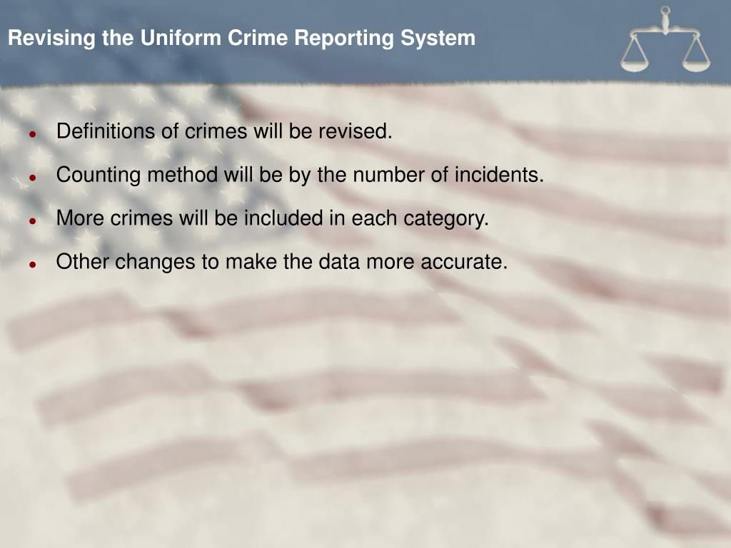 Revising the Uniform Crime Reporting System
