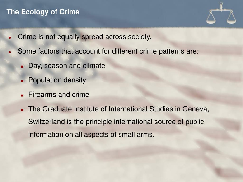 The Ecology of Crime