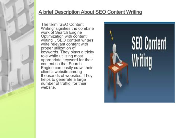 A brief description about seo content writing