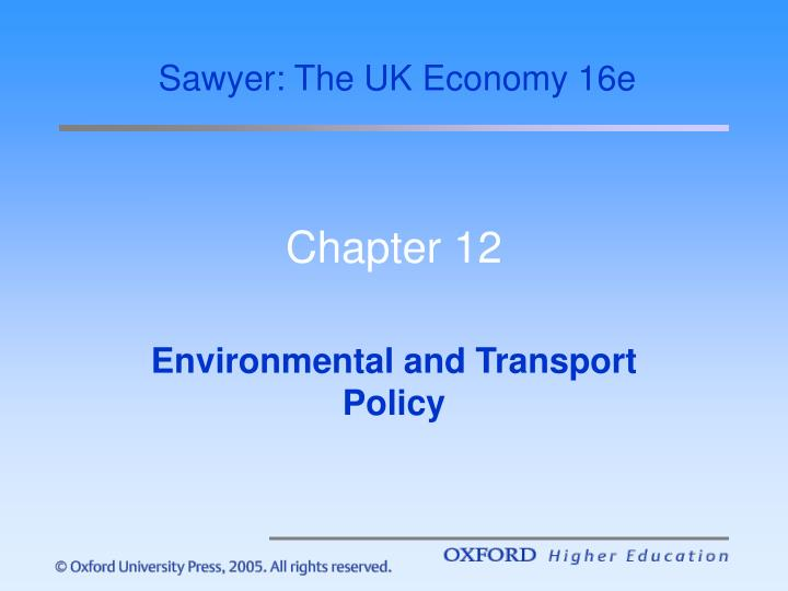 Sawyer: The UK Economy 16e