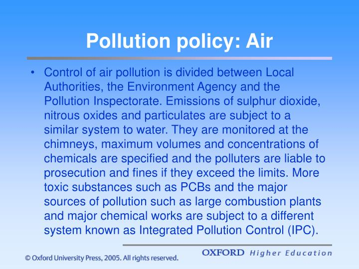 Pollution policy: Air