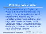 pollution policy water
