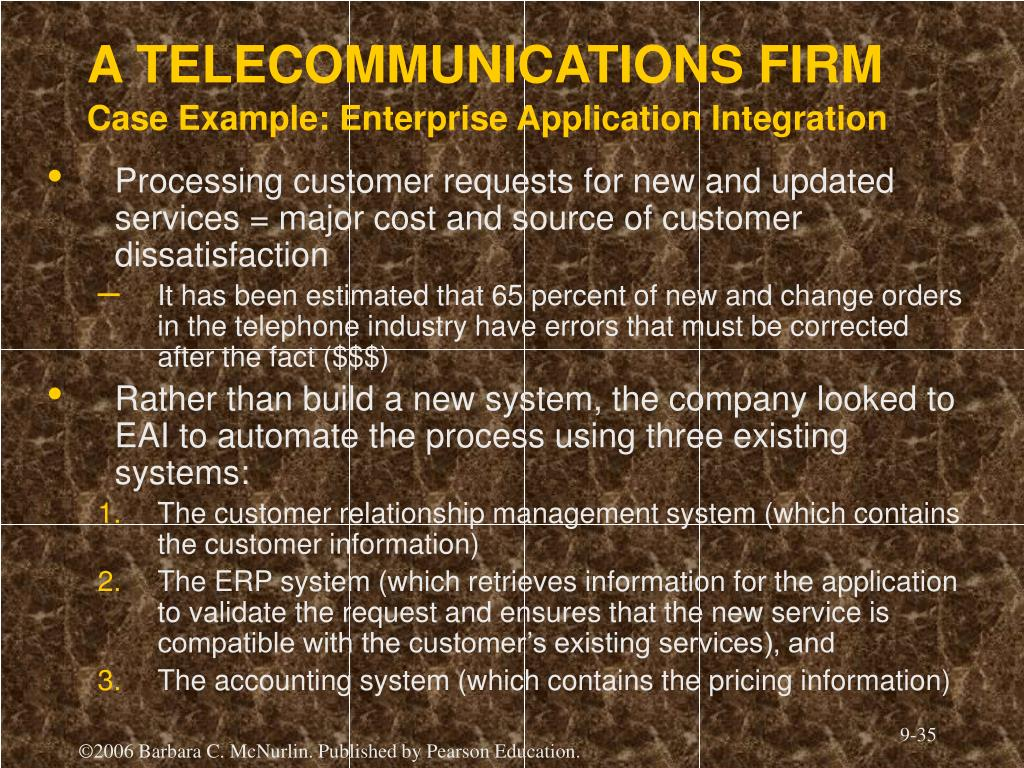 A TELECOMMUNICATIONS FIRM