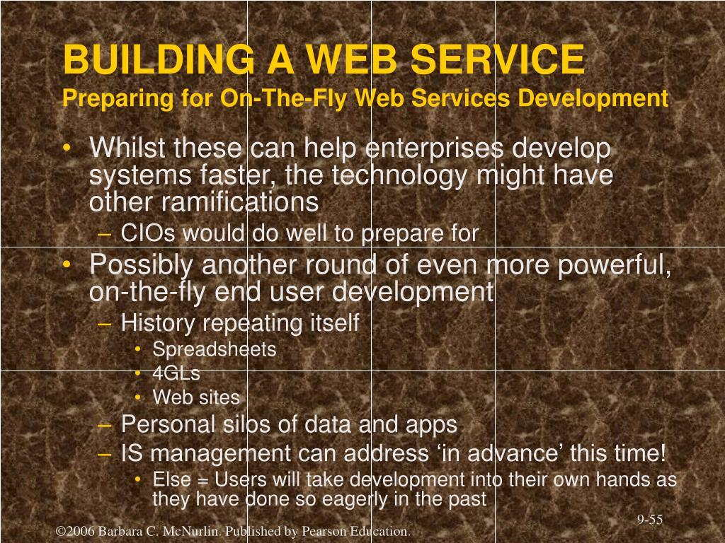 BUILDING A WEB SERVICE
