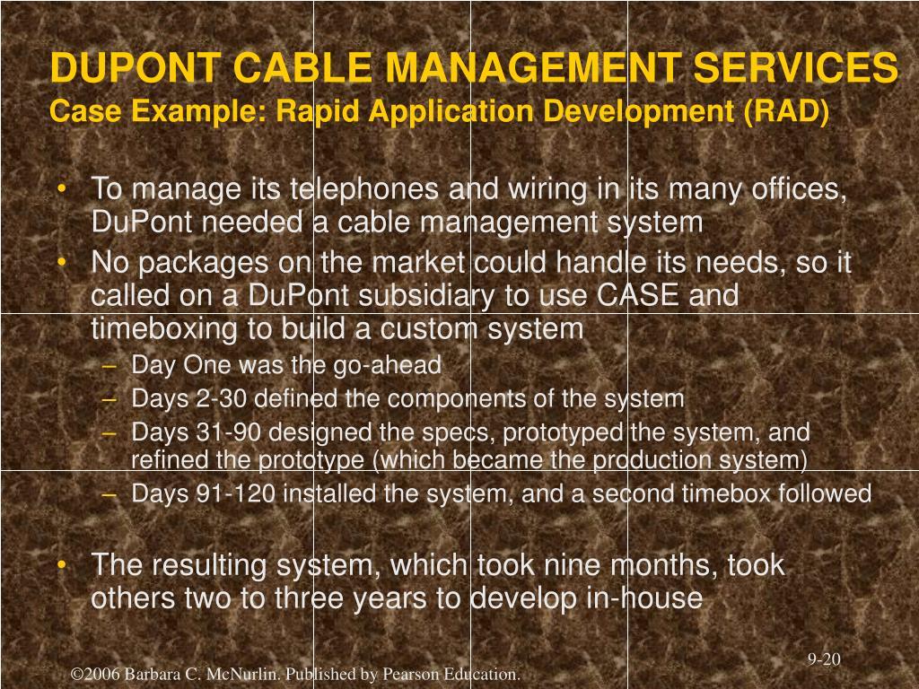 DUPONT CABLE MANAGEMENT SERVICES