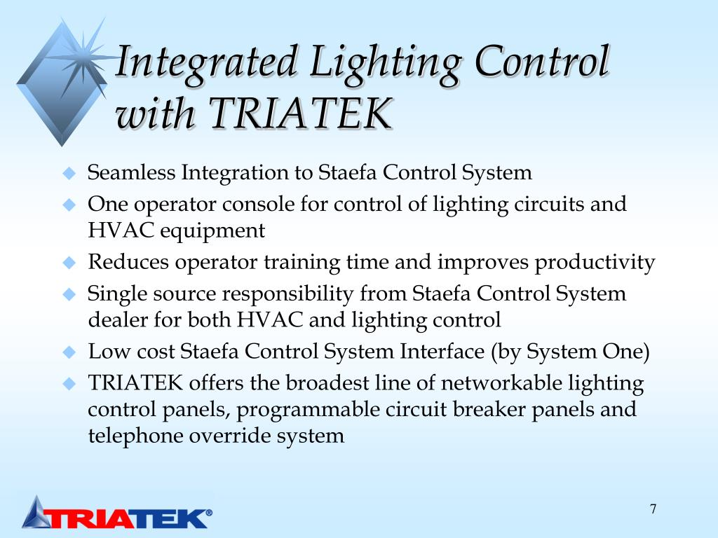 Integrated Lighting Control with TRIATEK