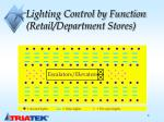 lighting control by function retail department stores