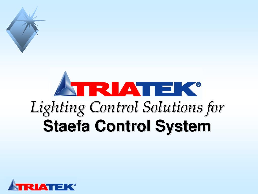 lighting control solutions for staefa control system l.
