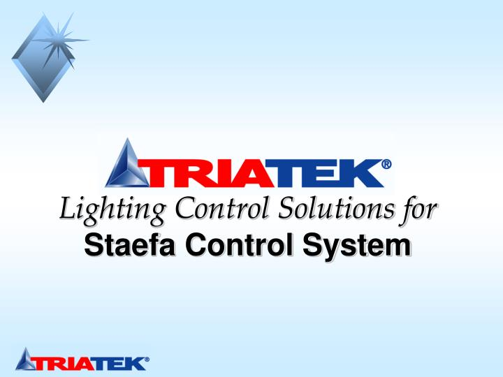 lighting control solutions for staefa control system n.