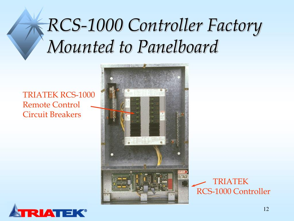 RCS-1000 Controller Factory Mounted to Panelboard