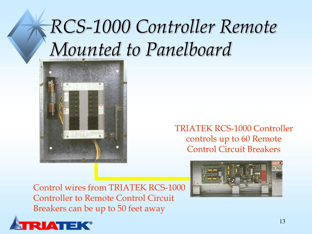 RCS-1000 Controller Remote Mounted to Panelboard