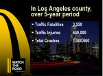 in los angeles county over 5 year period