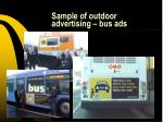 sample of outdoor advertising bus ads