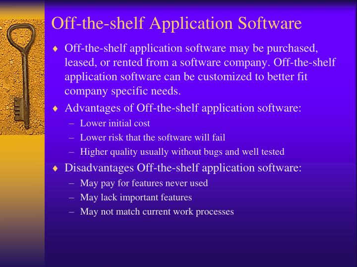 Off-the-shelf Application Software