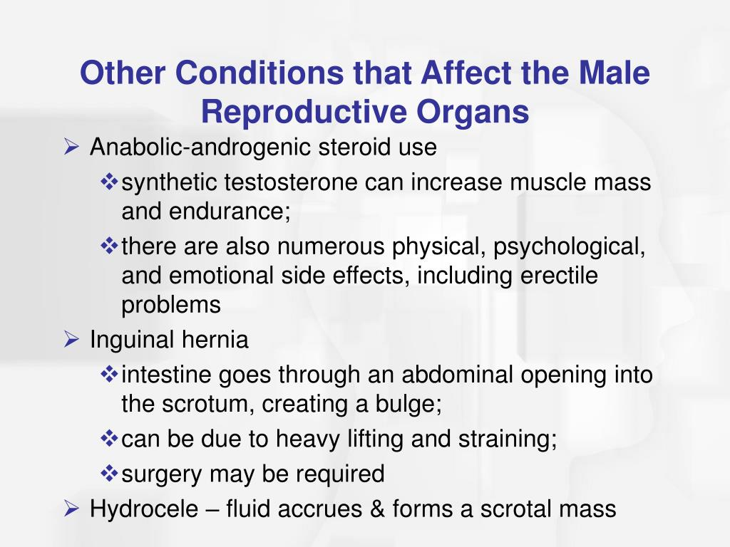 Other Conditions that Affect the Male Reproductive Organs