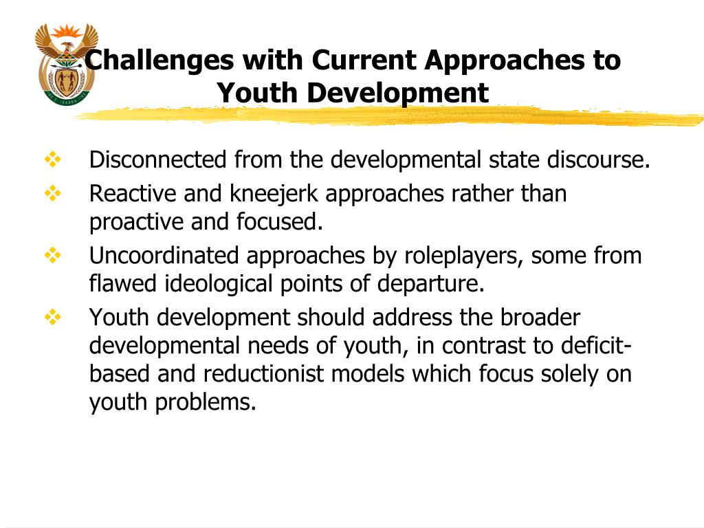 Challenges with Current Approaches to Youth Development