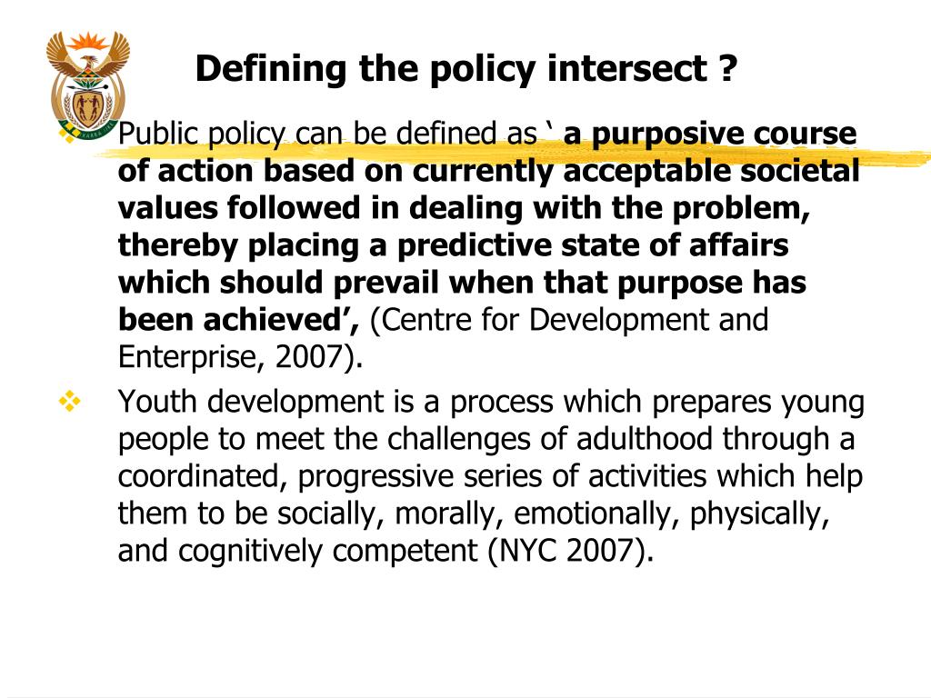 Defining the policy intersect ?