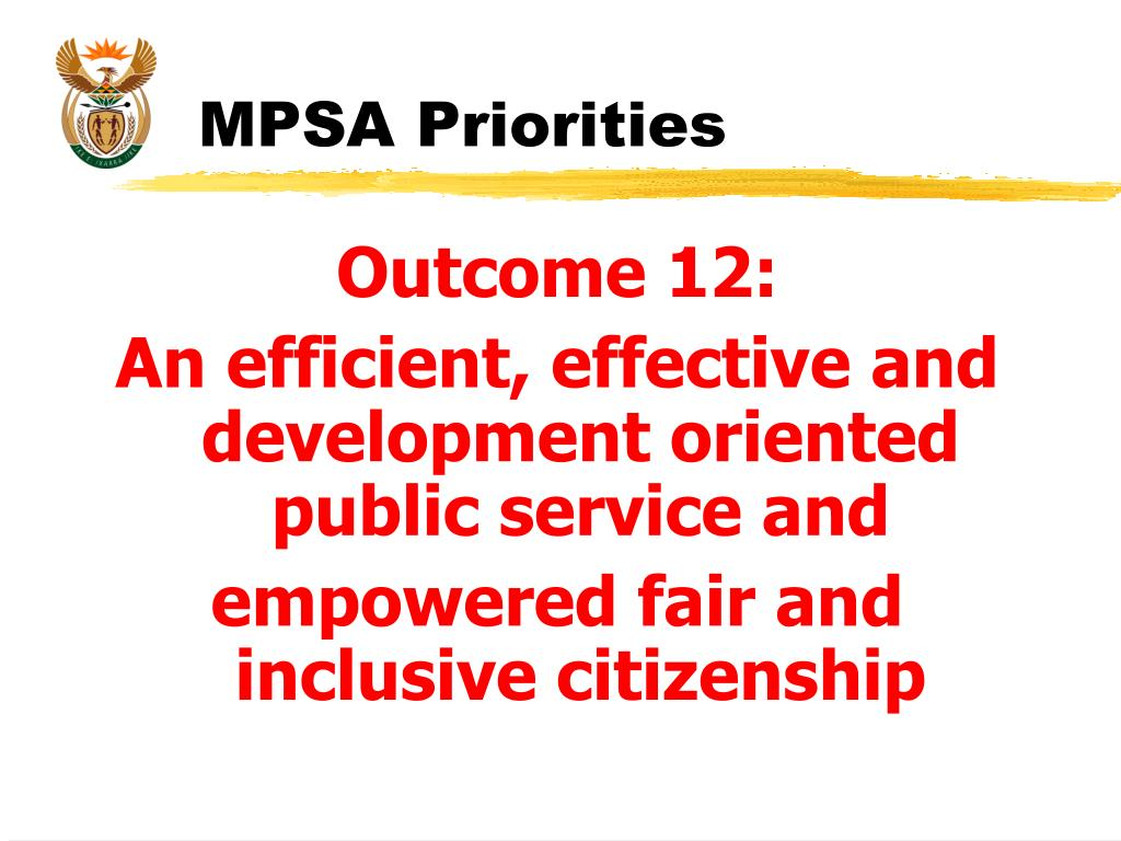 MPSA Priorities