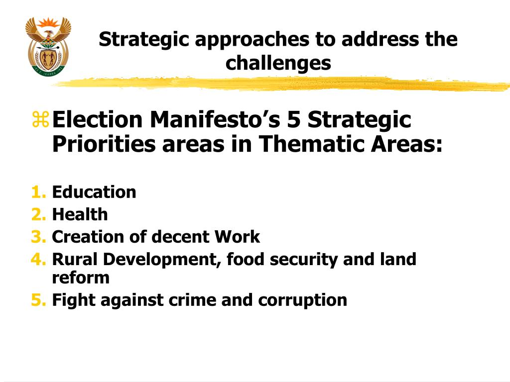 Strategic approaches to address the challenges