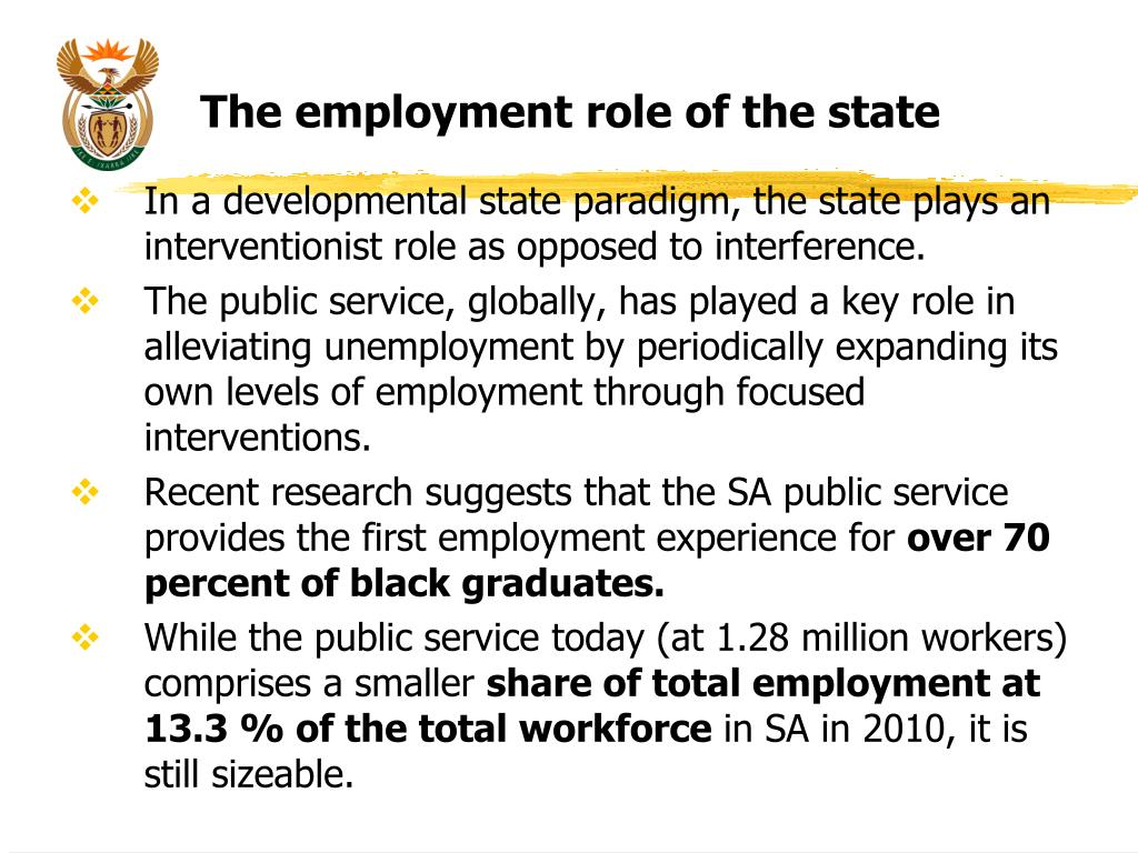 The employment role of the state
