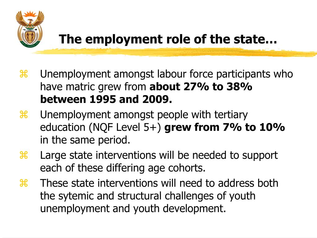 The employment role of the state…