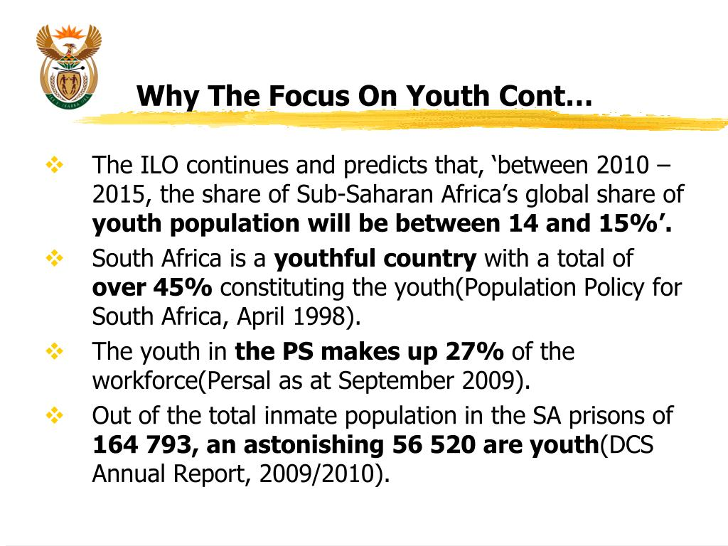 Why The Focus On Youth Cont…