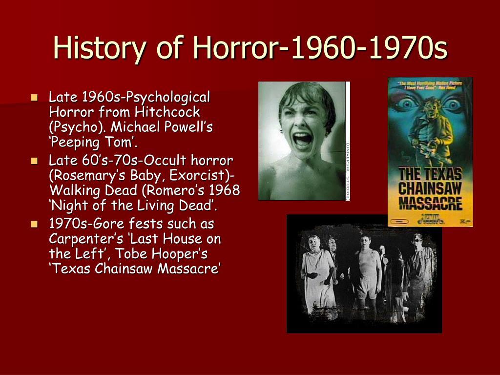 History of Horror-1960-1970s