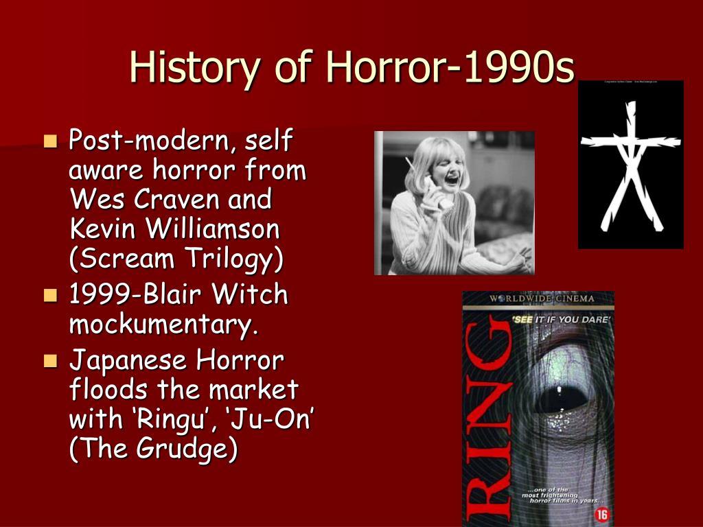 History of Horror-1990s