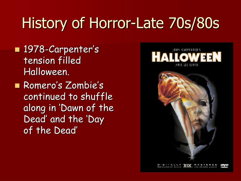 History of Horror-Late 70s/80s