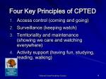 four key principles of cpted