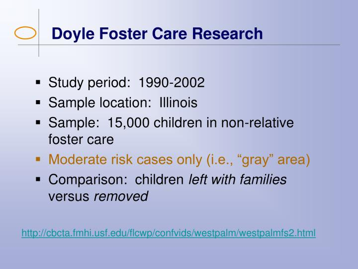Doyle Foster Care Research