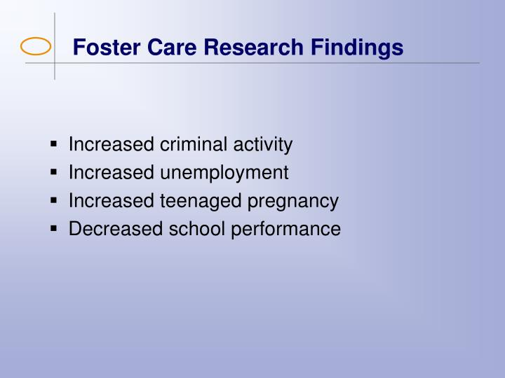 Foster Care Research Findings