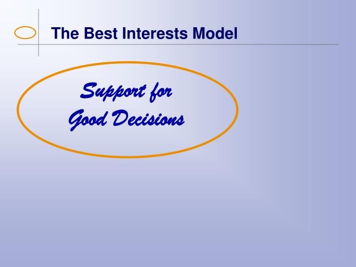 The Best Interests Model