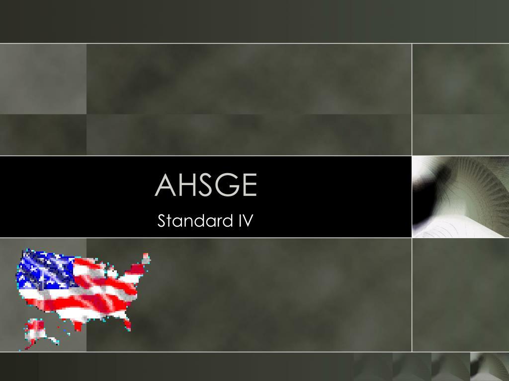 AHSGE