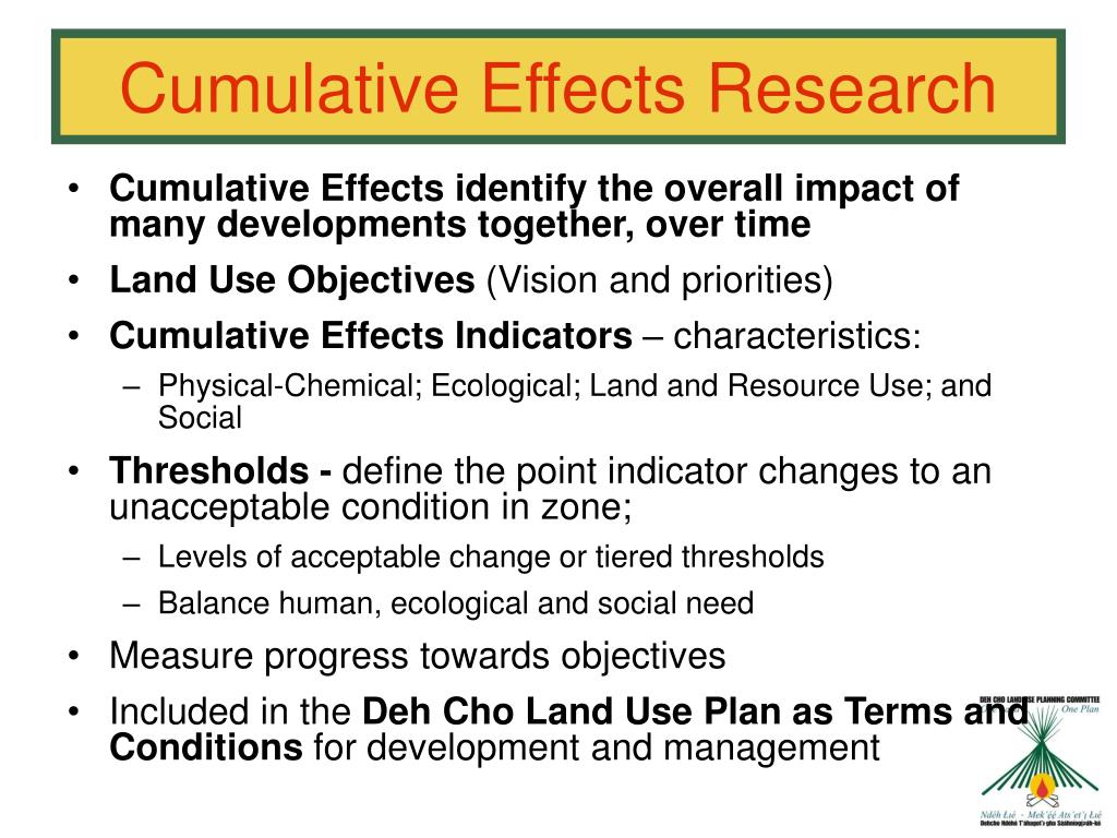Cumulative Effects Research