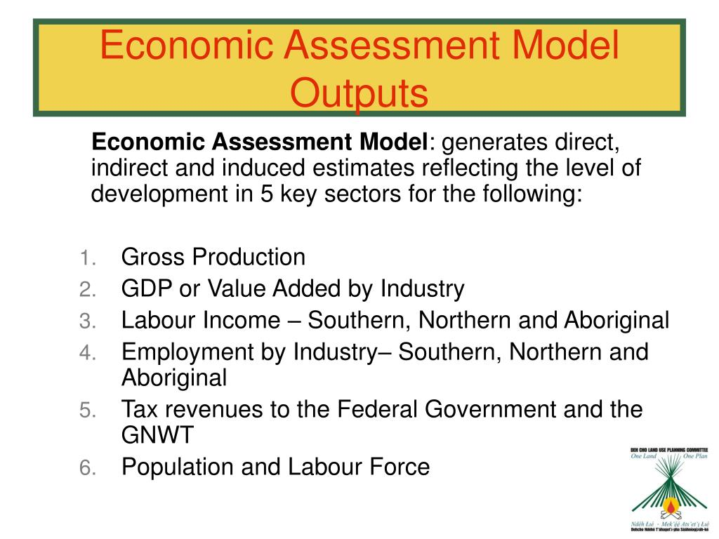 Economic Assessment Model Outputs