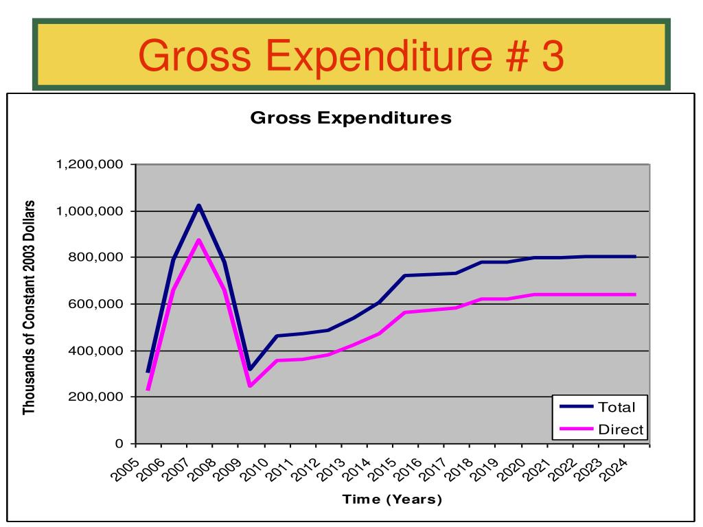 Gross Expenditure # 3