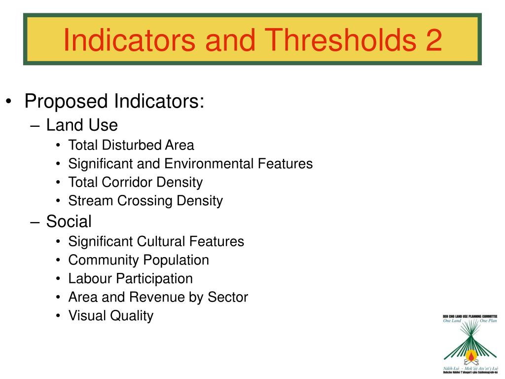 Proposed Indicators: