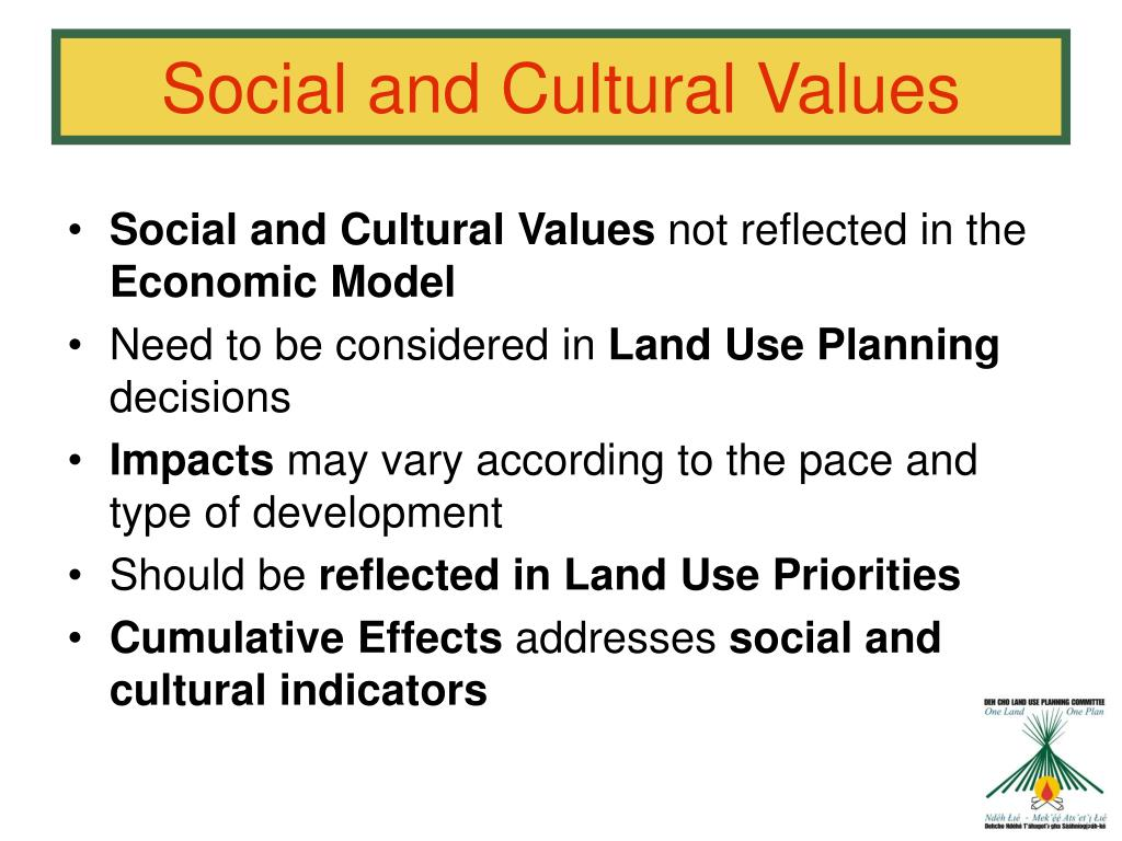 Social and Cultural Values