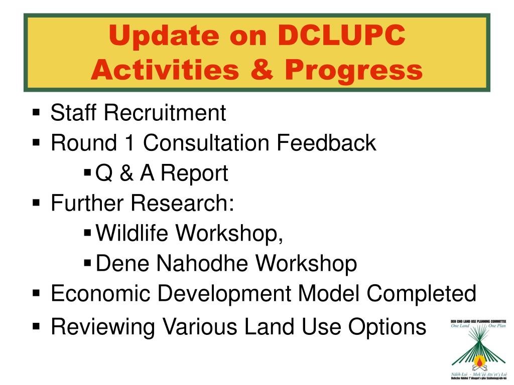 Update on DCLUPC Activities & Progress
