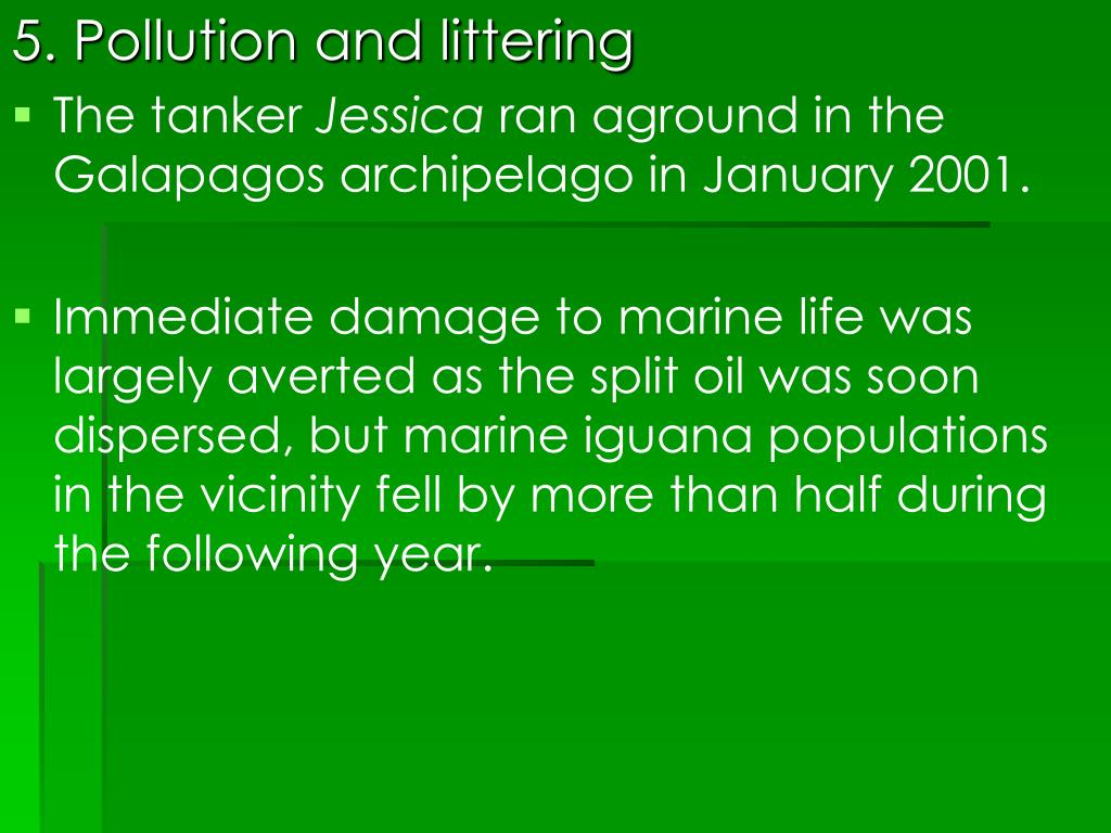 5. Pollution and littering