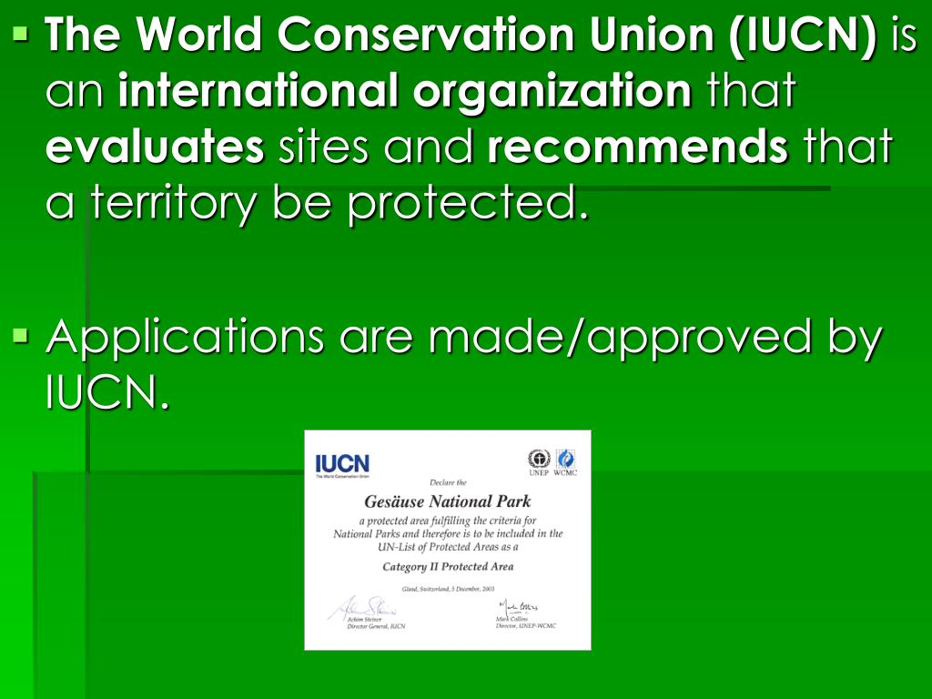 The World Conservation Union (IUCN)