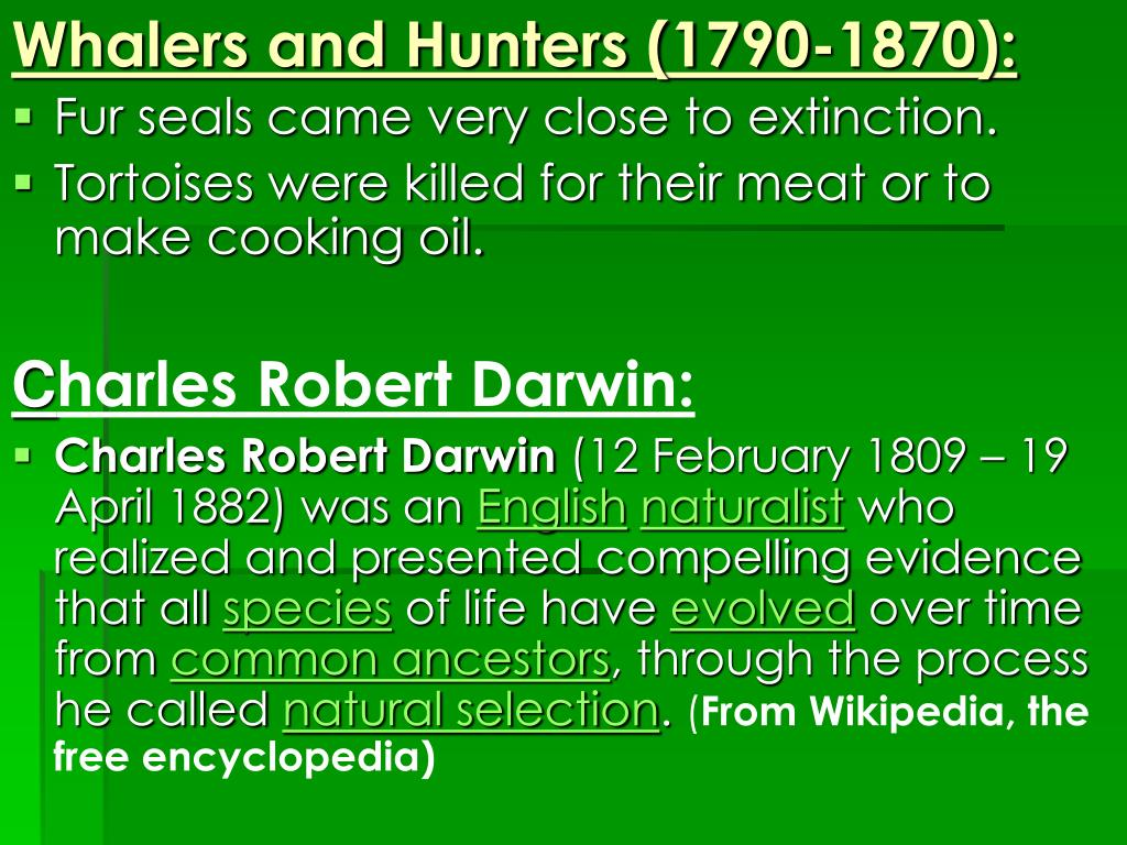 Whalers and Hunters (1790-1870):