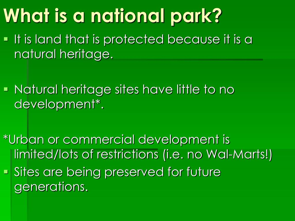 What is a national park?