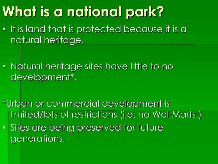 What is a national park