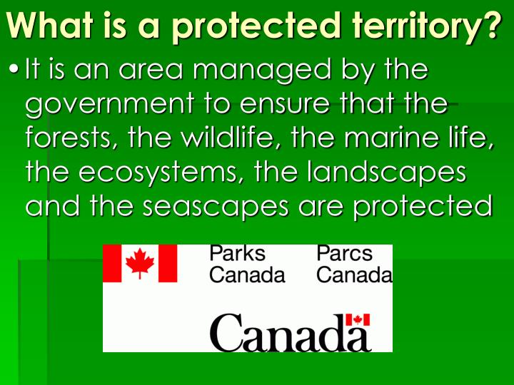 What is a protected territory