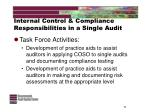 internal control compliance responsibilities in a single audit11